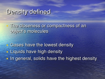 Density of the Ocean Powerpoint