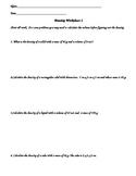 Density worksheet:  Practice using the density formula