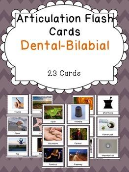 Apraxia & Articulation Cards Dental-Bilabial
