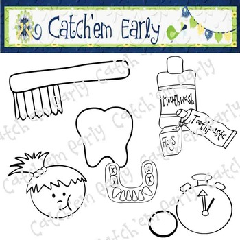 Dental Clip Art Black & White