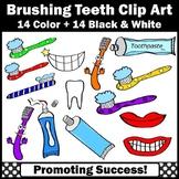 Dental Health Clipart, Toothbrush, Toothpaste, Brushing Teeth Clip Art SPS