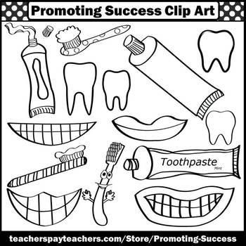 Dental Health Clipart Toothbrush Toothpaste Brushing Teeth Sps