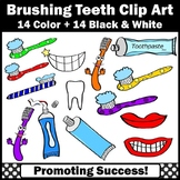 Dental Health Toothbrush Clip Art, Toothpaste, Brushing Teeth SPS