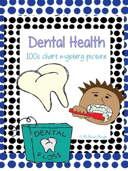 Dental Health 100s chart mystery picture