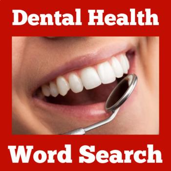 Dental Health Activity | Dental Health Month | Dental Health Word Search