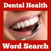 Dental Health Printable Worksheet