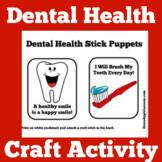 Dental Health Hygiene Activity Craft