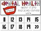 Dental Health 20 Frame Counting Interactive Book
