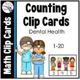 Dental Health Counting Clip Cards