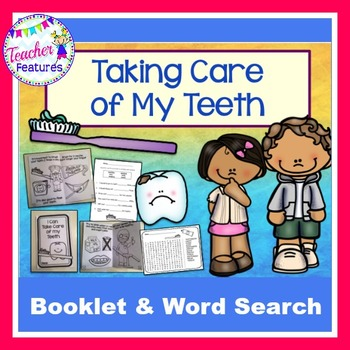 Dental Health Interactive Booklet & Wordsearch