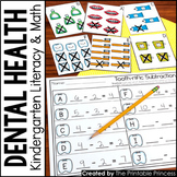 Kindergarten Dental Health Centers for Math and Literacy Activities
