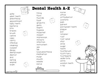 Dental Health A-Z Book