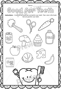 Dental Health Care Activities {Worksheets & Crafts}