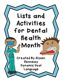 Dental Health Activities! How to keep a healthy smile