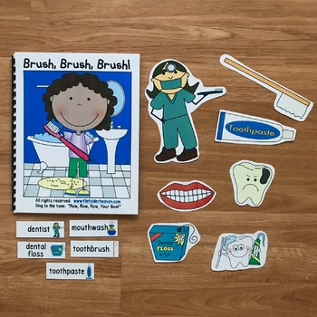 "Dental Health Adapted Book--""Brush, Brush, Brush"""