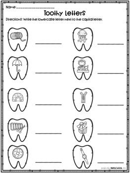Dental Health Alphabet Match