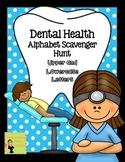 Dental Health: Alphabet Scavenger Hunt: Upper and Lowercase Letters
