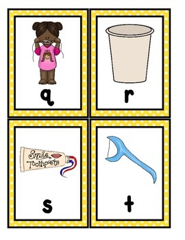 Dental Health: Alphabet Scavenger Hunt: Upper and Lowercase Letters