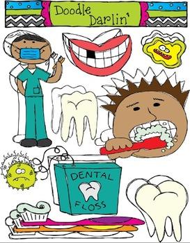 Dental Health COMBO Clipart Set