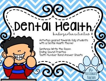 Dental Health Center Activities for Kindergarten