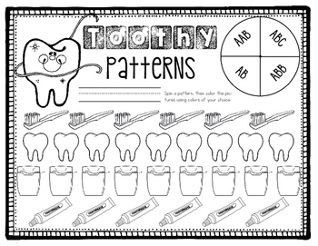 Dental Health Centers and Worksheets