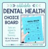 Dental Health Choice Board - Editable
