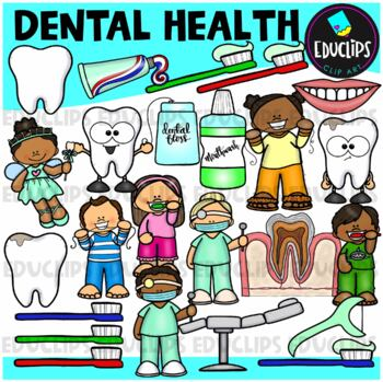 Dental Health Clip Art Bundle {Educlips Clipart}
