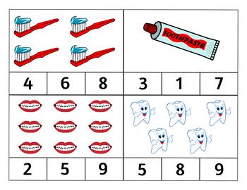 Dental Health Clip Cards