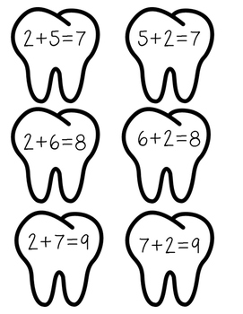 Dental Health Composing and Decomposing Numbers Activity