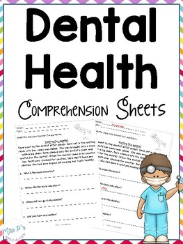 Dental Health Comprehension Pack