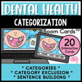 Dental Health Convergent Naming and Category Exclusion No Prep Boom Cards™