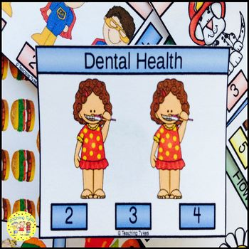 Dental Health Count and Clip Task Cards