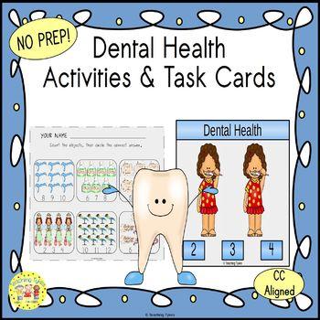 Dental Health Clip Task Cards