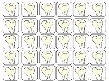 Dental Health Counting Ten Frames