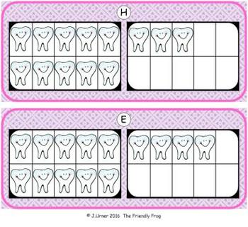 Dental Health Counting with 20 Frames {Subitizing}