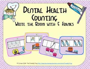 Dental Health Counting with 5 Frames {Subitizing}