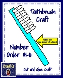 Dental Health Craft: Toothbrush and Number Order