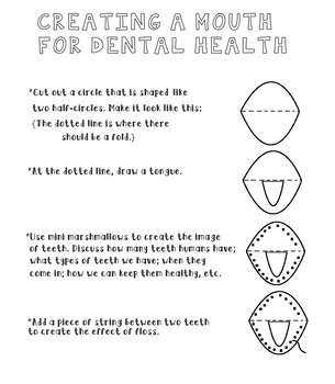 Dental Health Craftivity For Kids