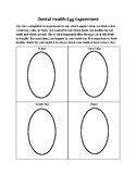Dental Health Egg Experiment- Recording Sheet