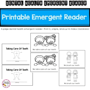 Dental Health Emergent Reader- Taking Care of Teeth