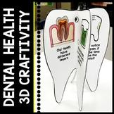 Dental Health - FREEBIE - 3D Mobile - Teeth Craftivity