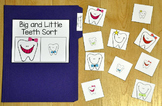 Dental Health File Folder Game:  Big and Little Teeth Sort