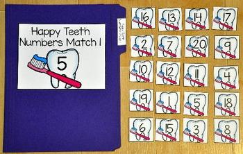 Dental Health File Folder Games