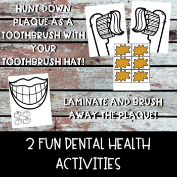 Dental Health Interactive Notebook, Activities, Poster Set