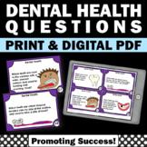 Dental Health Task Cards, Science Research Project, Healthy Teeth Digital Print