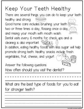 Dental Health Literacy and Math