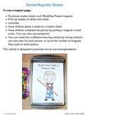 Dental Health Magnet Sheets