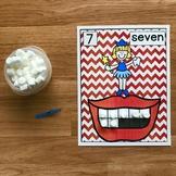 Dental Health Math Activities:  Counting Marshmallow Teeth