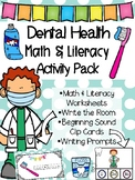 Dental Health Math and Literacy Activity Pack Printables D