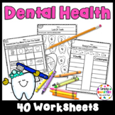 Dental Health Themed Kindergarten Math and Literacy Worksh